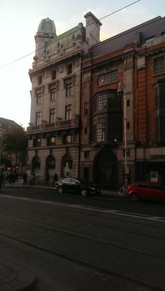 common building right in front of Luas abby station..