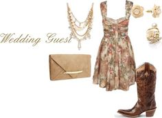 what to wear to a country wedding | What to wear to a western wedding: Guest
