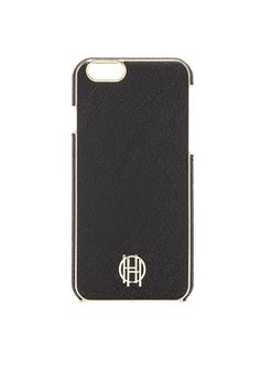 HOUSE OF HARLOW 1960 Cute Iphone 6 6S Snap Case Silver Metallic Black Leather…
