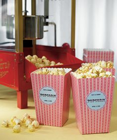 Did you see a movie on your first date? Consider custom popcorn tubs (or, for a cheaper alternative, some custom microwaveable popcorn).