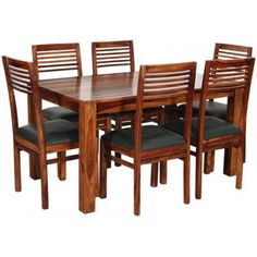 Buy Dining Table Set Online @ Money Saving Price in India Daining Table, Glass Dining Table Set, 6 Seater Dining Table, Dining Table Online, Solid Wood Dining Table, Dining Room, Dining Table Set Designs, Dining Furniture, Industrial Furniture