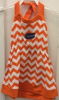 Florida Gators Chevron Orange Halter Dress for my girls