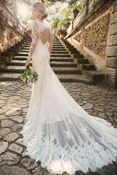 Keyhole Back Wedding Dress by