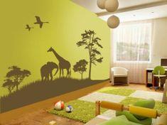 Lustige Dschungel Dekoration im Kinderzimmer - schlicht und hell