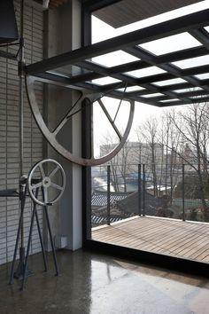 Trendy Steel Door Design Architecture Home Ideas Glass Garage Door, Garage Doors, Diy Garage, Glass Doors, Industrial House, Industrial Style, Industrial Garage Door, Industrial Interiors, Industrial Office
