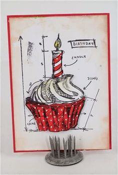 Tim Holtz blueprints stamps - card by Naomi Cox www.craftqueen.com.au