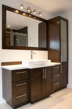 modern bathroom vanities simple ways to beautify your bathroom 55 Bathroom Basin Cabinet, Wash Basin Cabinet, Bathroom Vanity Storage, Bathroom Vanities, Wash Basin Counter, Sink, Washroom, Bathroom Furniture, Bathroom Design Luxury