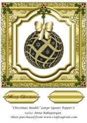 Christmas Bauble Large Square Topper 6
