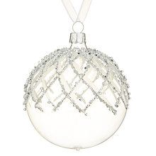 Buy John Lewis Snowshill Criss Cross Top Bauble, Clear Online at johnlewis.com