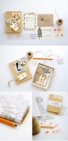 invitation in a box? Love it. Invitation inspiration