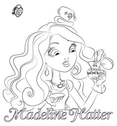 Ever After High Coloring Pages | Dibujos de Madeline Hatter para colorear