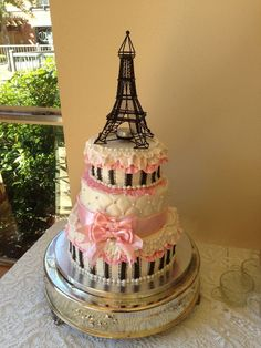 Paris themed baby shower for girl — Baby Shower