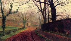 John Atkinson Grimshaw (English, 1836 - 1893) Autumn