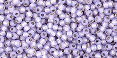 TR-11-2121 Round 11/0 : Silver-Lined Milky Lt.Amethyst