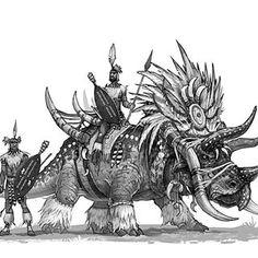 Today's Dino warrior dudes. Happy Friday! #dinosaursandwarriors #triceratops #zulu #dinosaur #conceptart #illustration #draw #drawing #digitalart #fantasy #creaturedesign