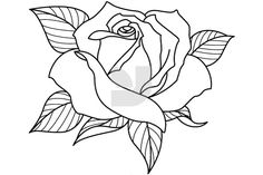 Learn To Draw A Realistic Rose - Drawing On Demand Rose Drawing Tattoo, Tattoo Drawings, Art Drawings, Rose Drawings, Rose Outline Tattoo, Rose Zeichnung Tattoo, Coloring Books, Coloring Pages, Beautiful Flower Drawings