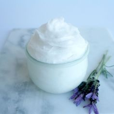Skin in need of nourishment from the winter weather? This DIY Lavender Coconut Whipped Body Butter will leave you feeling like you came from a luxury spa!