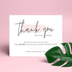 Thank You Customers, Thank You For Order, Thank You For Purchasing, Customer Thank You Note, Business Thank You Notes, Small Business Cards, Printable Thank You Cards, Thank You Card Template, Card Templates