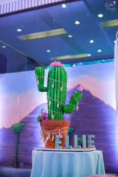 Ellie's Coachella Themed Party – Gorgeous Cactus/ Coachella Cake
