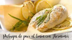 Pechugas de pavo al limón con Thermomix Fresh Rolls, Dinner Recipes, Fish, Meat, Ethnic Recipes, Animal, Photos, Lemon Sauce, Healthy Recipes
