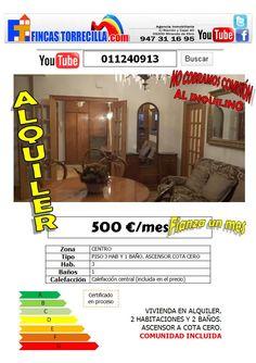 011240913 Piso alquiler Miranda 500 €/mes comunidad incluída 3 hab   http://www.youtube.com/watch?v=FFeQU41PpQI