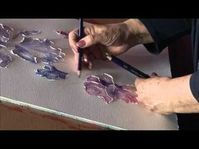 Demonstration of abstract painting in acrylic colors. Canvas is textured with gesso using palette knife and brayer. Whole painting is done using palette knif. Acrylic Painting Flowers, Acrylic Painting Techniques, Painting Lessons, Abstract Flowers, Art Lessons, Painting Abstract, Glue Painting, Paint Flowers, Floral Paintings