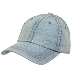 050f323d7d Look cool and collected in this faded denim curved bill adjustable vegan  leather cap. this hat will look great and be a functional and transitional  piece in ...