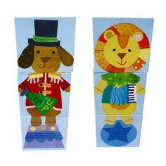 Stacking Blocks - Circus Animals - By Jill McDonald - CR Gibson - Nursery & Kids Decor - Unique Educational Toys