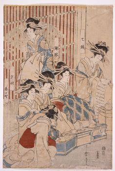 Courtesans of the Greenhouse, Kitagawa Utamaro, Japan, 1806