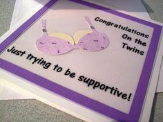 Breast augmentation card congratulations on twins