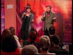 A humorista Éles István és Bach Szilvi, mint a Korda - Balázs kettős