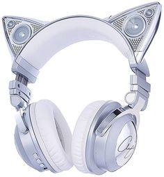 Brookstone Limited Edition Ariana Grande Wireless Cat Ear Headphones with External Speaker Bluetooth Microphone and Color Changing Accents BoughtAgain headphone art Cat Lover Gifts, Cat Gifts, Lovers Gift, Cat Lovers, Wireless Cat Ear Headphones, Accessoires Iphone, Accesorios Casual, Gaming Headset, Softies