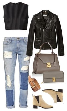 Untitled #1256 by erinforde on Polyvore featuring polyvore, fashion, style, David Koma, Yves Saint Laurent, Frame Denim, Acne Studios, Mark Cross, Chloé and Forever 21