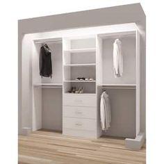 TidySquares Classic White Wood Reach-in Closet Organizer Wall Storage, Closet Storage, Closet Organization, Locker Storage, Organization Ideas, Front Closet, Reach In Closet, Master Closet, Closet Bedroom