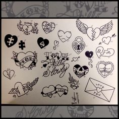 Valentine 39 s day flash sheet come see me at circle 9 for Valentine s day tattoos