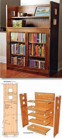 Bookcase Plans - Furniture Plans and Projects | http://WoodArchivist.com