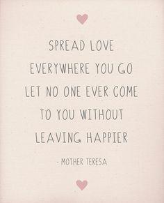 Spread Love Wherever You Go Art Print by Rachel Follett