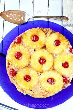 Pineapple Upside Bread Pudding
