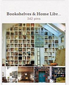 """Bookshelves & Home Libraries: Covet-worthy bookshelves and reading nooks found in (mostly) non-public spaces. Specific bookshelf built-in combos with fireplaces are in """"Bookcase / Fireplace Combos"""" [http://pinterest.com/pin/175218241723500902/] and books and shelves that are actually different pieces of furniture are in """"Books & Their Ilk As Decor"""" [http://pinterest.com/pin/175218241723500894/]."""