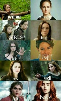 Find images and videos about book, harry potter and the hunger games on We Heart It - the app to get lost in what you love. Girl Power Quotes, Girl Quotes, Funny Girl Movie, Funny Girls, Divergent Memes, Citations Film, Fandom Quotes, Harry Potter Jokes, Girls Rules