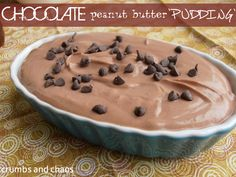 Healthy Chocolate Peanut Butter 'Pudding' | Crumbs and Chaos #chocolate #healthydesserts  www.crumbsandchaos.net