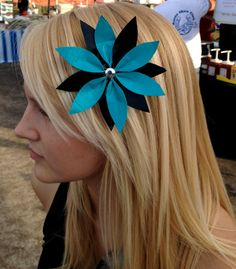 Duct Tape Flower Hair Clip
