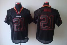0415e3ee4 NIKE NFL San Francisco 49ers  21 Gore Black Lights Out Jersey