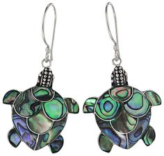 From majestic ocean travelers to humble pond dwellers, the turtle is a favorite of young and old alike. Celebrate this always-at-home reptile with precious earrings artisan-crafted with abalone, one of the more sought after varieties of mother-of-pearl in sterling settings.  Only $22.00  Fair Trade