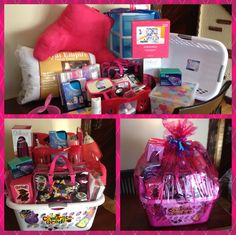 College Dorm Room Survival Gift Basket I wish someone would make one of these for each of my college kids. College Dorm Gifts, College Gift Baskets, College Hacks, College Dorm Rooms, College Apartments, Online College Degrees, College Survival, After Life, Dorm Life