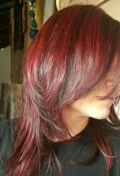 Red hair with lowlights