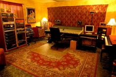 Must have a recording studio in my dream home with layers of oriental rugs.  Always been a dream of mine!