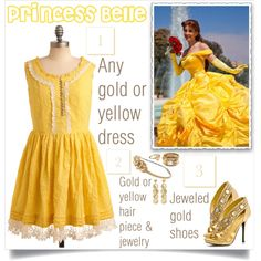 """DIY Belle Costume"" this is more my speed/style"