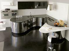 12 unusual home renovations to inspire your next build Modern Kitchen Design, Interior Design Kitchen, Fabulously Organized Home, Kitchen Furniture, Kitchen Decor, Round Kitchen, Unique House Design, Custom Kitchens, Minimalist Kitchen