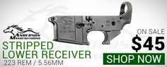 Anderson Mfg AR-15 Stripped Lower Receiver Mil-Spec. Now $45.00